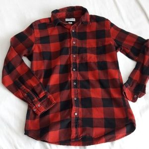 American Appreal Red Flannel Shirt Size Small